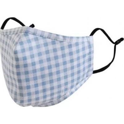 Boîte de 10 unités Motif en treillis. Masques de protection respiratoire réutilisables avec 100 filtres à charbon