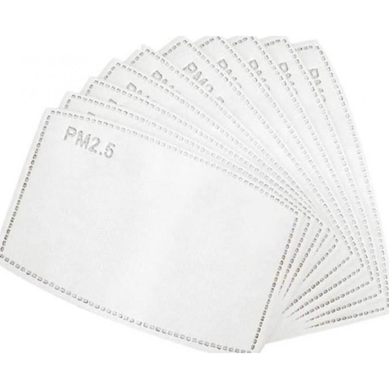 Boîte de 10 unités Masques Protection Respiratoire Motif en treillis. Masques de protection respiratoire réutilisables avec 100 filtres à charbon