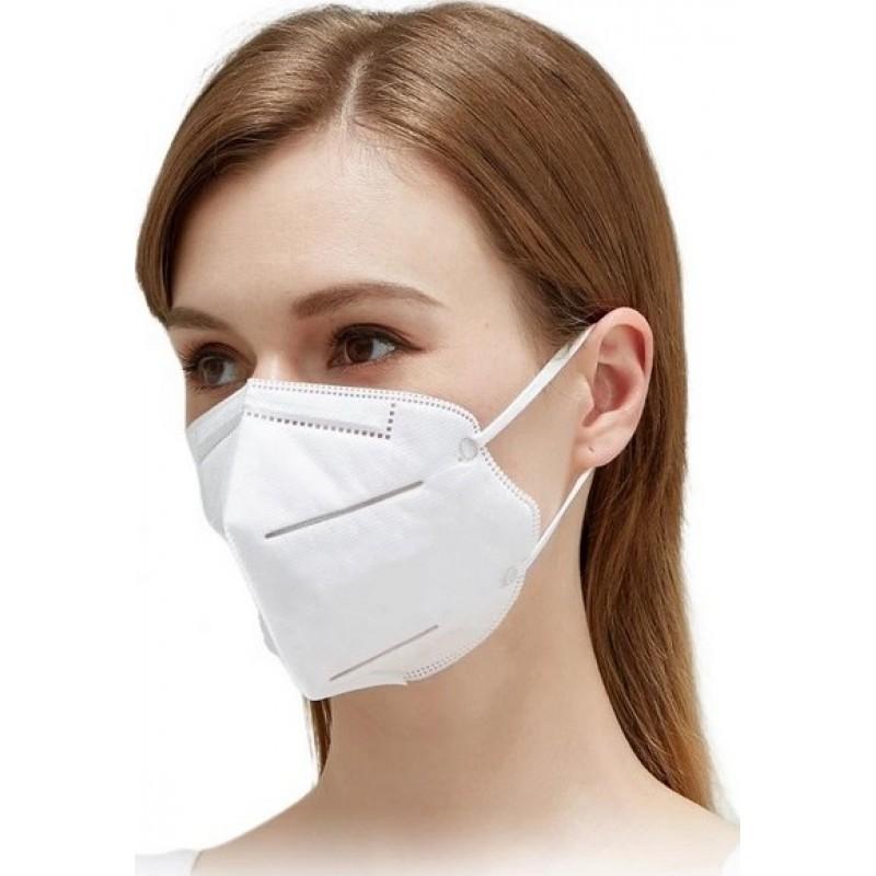 299,95 € Envio grátis | Caixa de 500 unidades Máscaras Proteção Respiratória Filtragem KN95 a 95%. Máscara de proteção respiratória. PM2.5. Proteção de cinco camadas. Vírus e bactérias anti-infecções