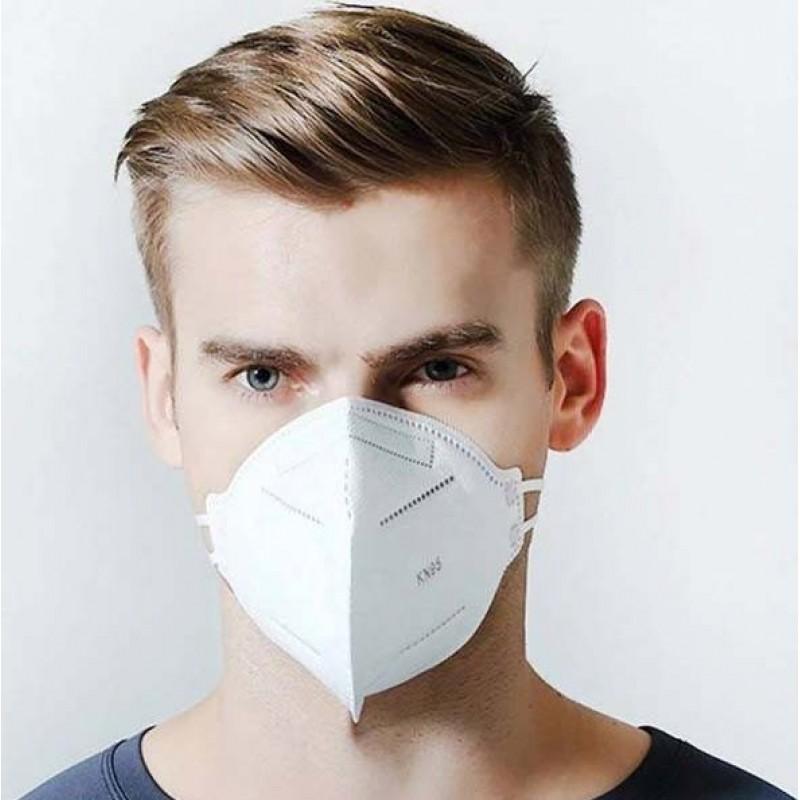 169,95 € Envoi gratuit | Boîte de 200 unités Masques Protection Respiratoire Filtration à 95% KN95. Masque de protection respiratoire. PM2.5. Protection à cinq couches. Anti virus et bactéries