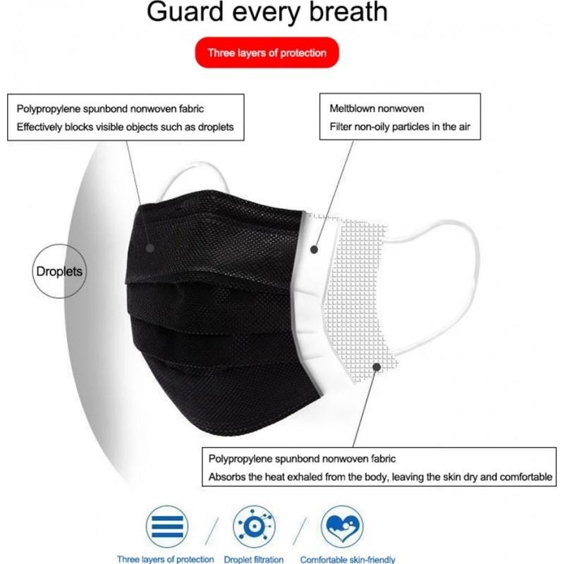 99,95 € 免费送货   盒装500个 呼吸防护面罩 一次性面部卫生口罩。呼吸系统防护。三层过滤透气