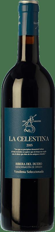 17,95 € Free Shipping | Red wine Atalayas de Golbán La Celestina Vendimia Seleccionada Reserva D.O. Ribera del Duero Castilla y León Spain Tempranillo Bottle 75 cl