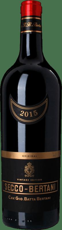 15,95 € Free Shipping | Red wine Bertani Rosso Secco Vintage I.G.T. Veronese Veneto Italy Syrah, Cabernet Sauvignon, Sangiovese, Corvina Bottle 75 cl