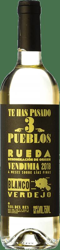 10,95 € Free Shipping | White wine Díaz Bayo Te Has Pasado 3 Pueblos D.O. Rueda Castilla y León Spain Verdejo Bottle 75 cl