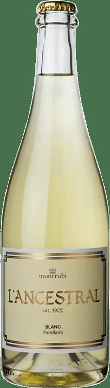 15,95 € Free Shipping | White sparkling Mont-Rubí l'Ancestral Blanc Brut Spain Parellada Bottle 75 cl