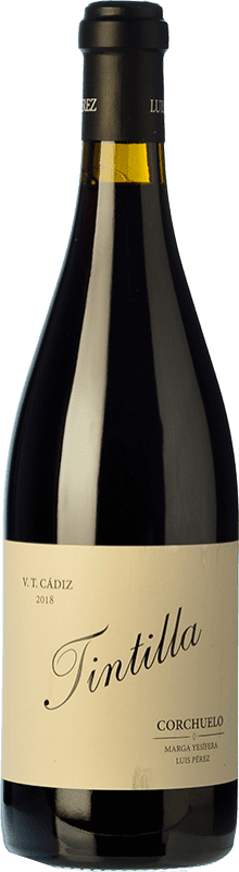 23,95 € Free Shipping | Red wine Luis Pérez Corchuelo Crianza I.G.P. Vino de la Tierra de Cádiz Andalusia Spain Tintilla Bottle 75 cl