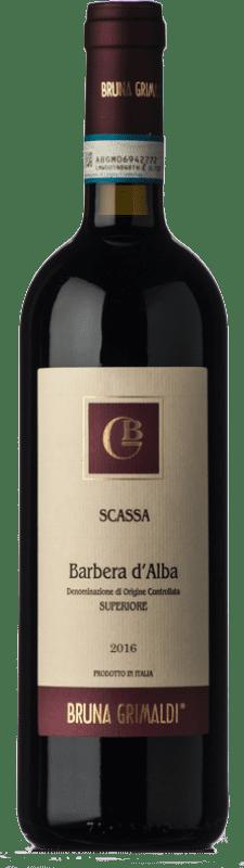 17,95 € Free Shipping | Red wine Bruna Grimaldi Scassa Superiore D.O.C. Barbera d'Alba Piemonte Italy Barbera Bottle 75 cl