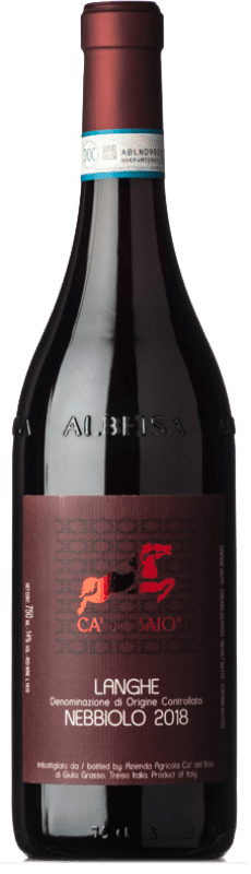 13,95 € Free Shipping | Red wine Cà del Baio D.O.C. Langhe Piemonte Italy Nebbiolo Bottle 75 cl