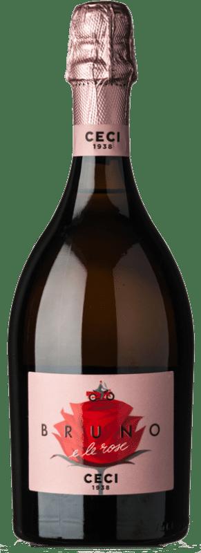 10,95 € Free Shipping | Rosé sparkling Ceci Rosé Bruno e le Rose Brut I.G.T. Emilia Romagna Emilia-Romagna Italy Lambrusco Bottle 75 cl