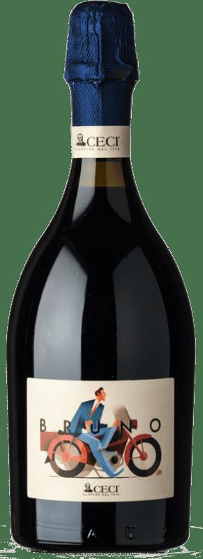 10,95 € Free Shipping | Red sparkling Ceci Bruno Brut I.G.T. Emilia Romagna Emilia-Romagna Italy Lambrusco Bottle 75 cl