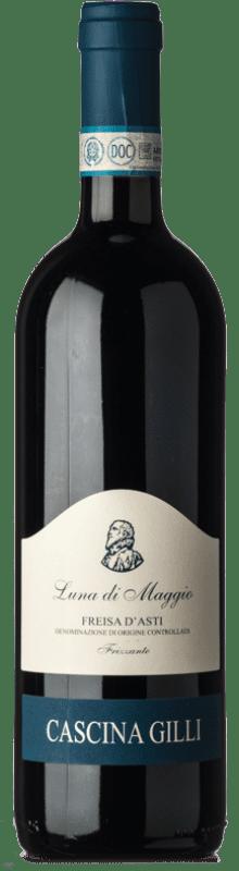 12,95 € Free Shipping | Red sparkling Gilli Frizzante Luna di Maggio D.O.C. Freisa d'Asti Piemonte Italy Freisa Bottle 75 cl