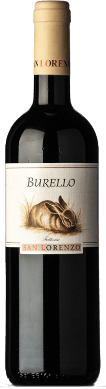 17,95 € Free Shipping | Red wine San Lorenzo Burello D.O.C. Rosso Piceno Marche Italy Sangiovese, Montepulciano Bottle 75 cl
