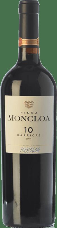 35,95 € Free Shipping | Red wine Finca Moncloa 10 Barricas Crianza I.G.P. Vino de la Tierra de Cádiz Andalusia Spain Syrah, Cabernet Sauvignon, Tintilla de Rota Bottle 75 cl
