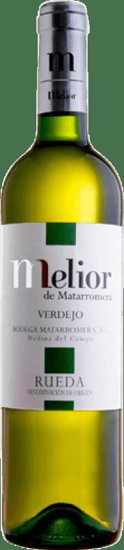 7,95 € Free Shipping | White wine Matarromera Melior de Blanco D.O. Rueda Castilla y León Spain Verdejo Bottle 75 cl