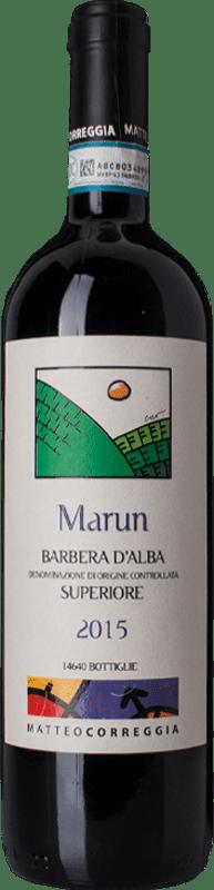 26,95 € Free Shipping | Red wine Matteo Correggia Marun D.O.C. Barbera d'Alba Piemonte Italy Barbera Bottle 75 cl