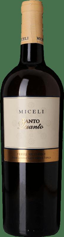 16,95 € Free Shipping | White wine Miceli Tanto Quanto I.G.T. Terre Siciliane Sicily Italy Chardonnay, Grillo Bottle 75 cl