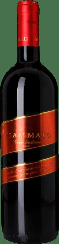 9,95 € Free Shipping | Red wine Miceli Fiammato I.G.T. Terre Siciliane Sicily Italy Nero d'Avola Bottle 75 cl