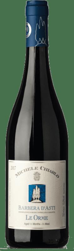 12,95 € Free Shipping | Red wine Michele Chiarlo Le Orme D.O.C. Barbera d'Asti Piemonte Italy Barbera Bottle 75 cl