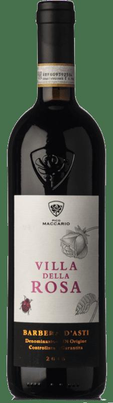 8,95 € Free Shipping | Red wine Pico Maccario Villa della Rosa D.O.C. Barbera d'Asti Piemonte Italy Barbera Bottle 75 cl