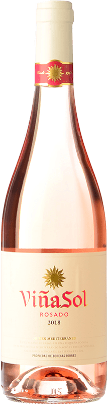 7,95 € Free Shipping | Rosé wine Torres Viña Sol Rosado D.O. Catalunya Catalonia Spain Grenache, Carignan Bottle 75 cl