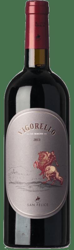 169,95 € Free Shipping   Red wine San Felice Rosso Vigorello I.G.T. Toscana Tuscany Italy Merlot, Cabernet Sauvignon, Petit Verdot, Pugnitello Bottle 75 cl
