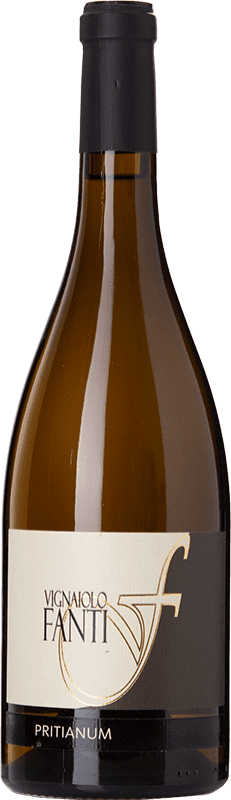 18,95 € Free Shipping | White wine Vignaiolo Tenuta Fanti Pritianum I.G.T. Vigneti delle Dolomiti Trentino-Alto Adige Italy Chardonnay, Manzoni Bianco Bottle 75 cl