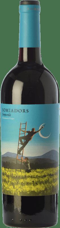 16,95 € Envío gratis | Vino tinto 7 Magnífics Somiadors Joven D.O. Empordà Cataluña España Garnacha, Cariñena Botella 75 cl