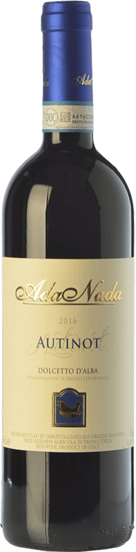 9,95 € Free Shipping | Red wine Ada Nada Autinot D.O.C.G. Dolcetto d'Alba Piemonte Italy Dolcetto Bottle 75 cl