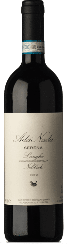 17,95 € Free Shipping | Red wine Ada Nada Serena D.O.C. Langhe Piemonte Italy Nebbiolo Bottle 75 cl