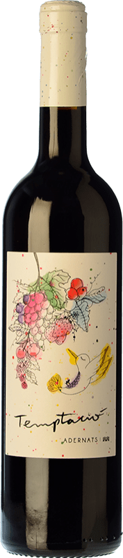 11,95 € Free Shipping | Red wine Adernats Instint Joven D.O. Tarragona Catalonia Spain Tempranillo, Merlot Bottle 75 cl