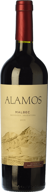 8,95 € Free Shipping | Red wine Alamos Joven I.G. Mendoza Mendoza Argentina Malbec Bottle 75 cl