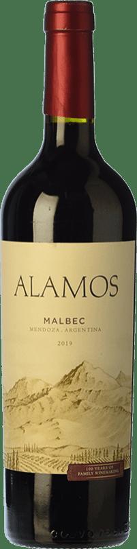 8,95 € Envío gratis | Vino tinto Alamos Joven I.G. Mendoza Mendoza Argentina Malbec Botella 75 cl