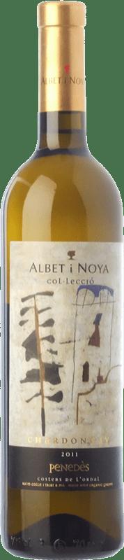 24,95 € Envío gratis | Vino blanco Albet i Noya Col·lecció Crianza D.O. Penedès Cataluña España Chardonnay Botella 75 cl