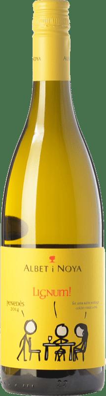 9,95 € 免费送货 | 白酒 Albet i Noya Lignum D.O. Penedès 加泰罗尼亚 西班牙 Chardonnay, Sauvignon White 瓶子 75 cl
