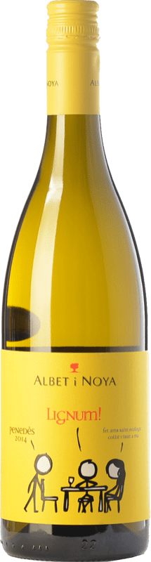 9,95 € Free Shipping | White wine Albet i Noya Lignum D.O. Penedès Catalonia Spain Chardonnay, Sauvignon White Bottle 75 cl