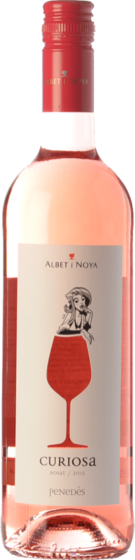 8,95 € | Rosé wine Albet i Noya Rosat Curiosa D.O. Penedès Catalonia Spain Merlot, Pinot Black Bottle 75 cl