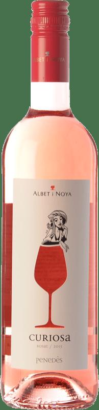 8,95 € Envío gratis | Vino rosado Albet i Noya Rosat Curiosa D.O. Penedès Cataluña España Merlot, Pinot Negro Botella 75 cl