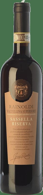 35,95 € Envío gratis | Vino tinto Rainoldi Sassella Riserva Reserva D.O.C.G. Valtellina Superiore Lombardia Italia Nebbiolo Botella 75 cl