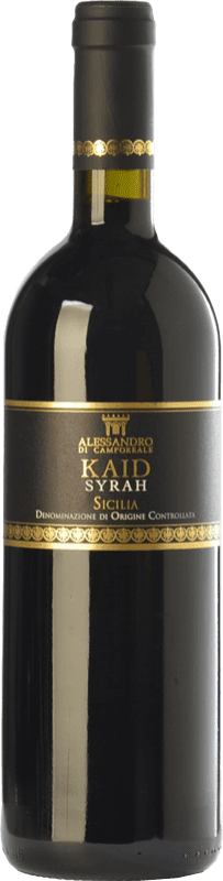 19,95 € Free Shipping | Red wine Alessandro di Camporeale Kaid I.G.T. Terre Siciliane Sicily Italy Syrah Bottle 75 cl