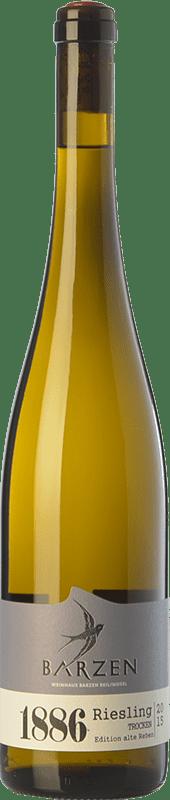 26,95 € | White wine Barzen Alte Reben Trocken 1886 Crianza Q.b.A. Mosel Rheinland-Pfälz Germany Riesling Bottle 75 cl