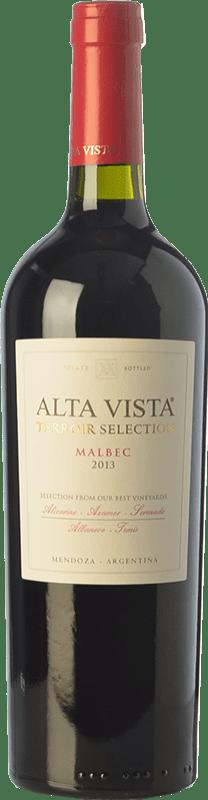 22,95 € | Red wine Altavista Terroir Selection Crianza I.G. Mendoza Mendoza Argentina Malbec Bottle 75 cl