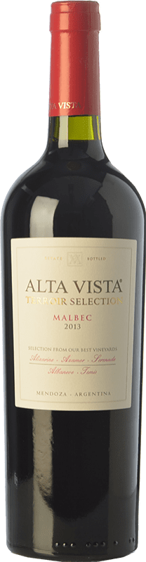 22,95 € Envoi gratuit | Vin rouge Altavista Terroir Selection Crianza I.G. Mendoza Mendoza Argentine Malbec Bouteille 75 cl