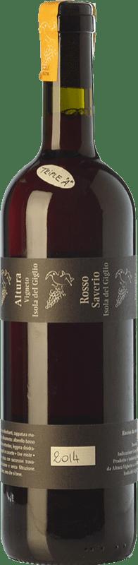 42,95 € Free Shipping | Red wine Altura Rosso Saverio D.O.C. Maremma Toscana Tuscany Italy Grenache, Malvasía, Sangiovese, Aleatico, Canaiolo Black, Muscatel Black Bottle 75 cl