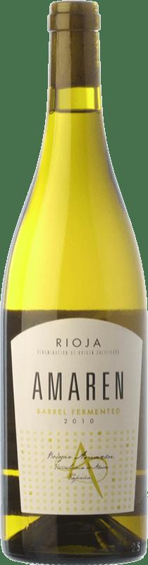 16,95 € Envío gratis | Vino blanco Amaren Fermentado Crianza D.O.Ca. Rioja La Rioja España Viura, Malvasía Botella 75 cl