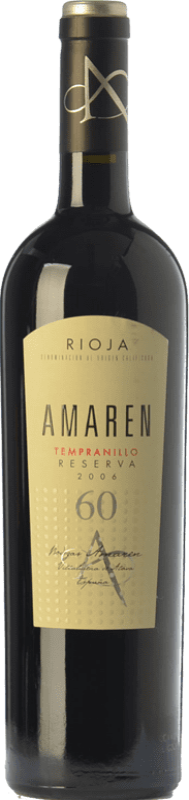 37,95 € Envoi gratuit | Vin rouge Amaren Reserva D.O.Ca. Rioja La Rioja Espagne Tempranillo Bouteille 75 cl