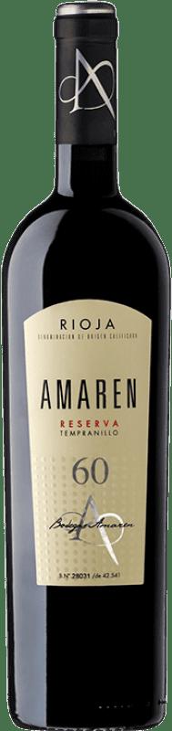 37,95 € Envío gratis | Vino tinto Amaren Reserva D.O.Ca. Rioja La Rioja España Tempranillo Botella 75 cl