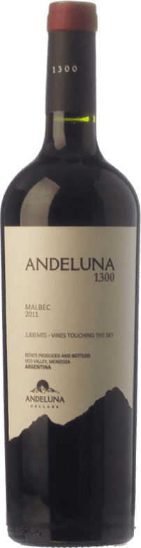 15,95 € | Red wine Andeluna 1300 Joven I.G. Mendoza Mendoza Argentina Malbec Bottle 75 cl