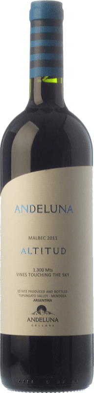22,95 € | Red wine Andeluna Altitud Reserva I.G. Mendoza Mendoza Argentina Malbec Bottle 75 cl