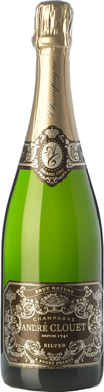 38,95 € Free Shipping | White sparkling André Clouet Silver Brut Nature A.O.C. Champagne Champagne France Pinot Black Bottle 75 cl