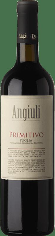 9,95 € Envío gratis | Vino tinto Angiuli I.G.T. Puglia Puglia Italia Primitivo Botella 75 cl